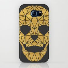 'The Golden Child' Samsung Galaxy S7 by Fimbis | Society6 . . Samsung Galaxy, S7, Galaxy S7, design, fashion, gold, skull, geometric, skeleton, symmetry, fashionista, design,