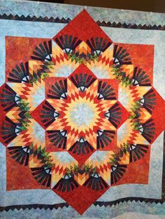 Woodcarver's Star, Quiltworx.com, Quilted by Janice Fenniman