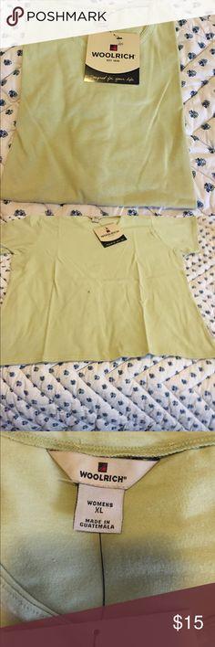 Woolrich Scoop Scoop Neck  Short Sleeve Top Woolrich Short Sleeve Scoop Neck Top 95% Cotton 5% Spandex Woolrich Tops
