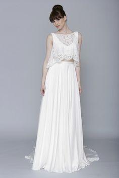8d6b593cb320 68 fascinujúcich obrázkov z nástenky Dvojdielne svadobné šaty ...