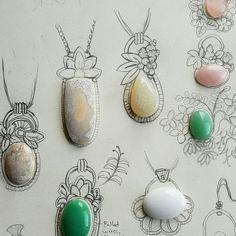 Working on something a little different. Working on something a little different. Metal Clay Jewelry, Copper Jewelry, Wire Jewelry, Jewelry Crafts, Jewelry Art, Jewlery, Diy Schmuck, Schmuck Design, Artisan Jewelry
