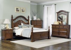 Laurelwood King Poster Bedroom Set | Liberty | Home Gallery Stores