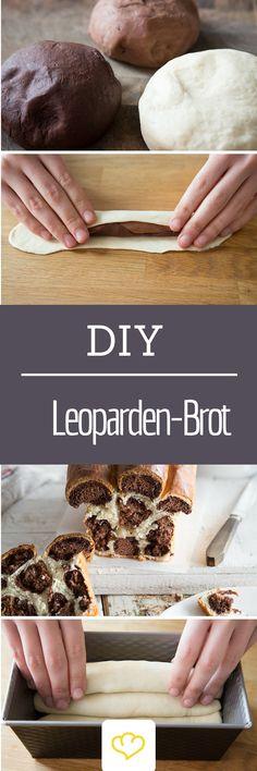 Von diesem Leoparden-Brot werden die Kids noch lange erzählen! Und dabei sieht es viel komplizierter aus, als es tatsächlich ist!