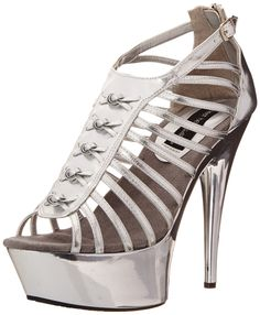 The Highest Heel Women's Amber-561 Platform Sandal,Silver Metallic,10 M US. Brand new first quality Sexy Shoes. Great accessory for any Adult Sexy costume. This posting includes: Highest Heel AMBER-561 Silver Metallic PU Size 10. Please note that only the items listed above are included.