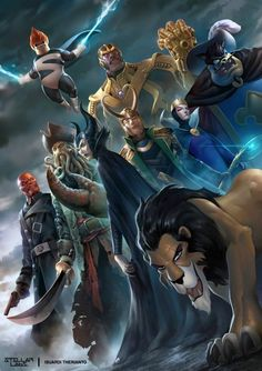 Disney Villains by Isuardi Therianto