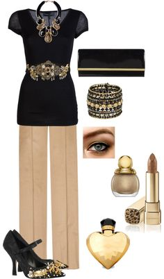 """""""Black & Gold"""" by in2song on Polyvore"""
