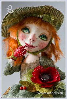 Drozdov Margarita,look at those freckles and perfect polka dot gloves!!!