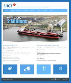 Conception et réalisation du site web de l'opérateur de terminaux portuaires et créateur de solutions logistiques SHGT - www.shgt.fr #website #siteweb #webagency #agenceweb #opteam #lehavre #normandie #normandy #logistique
