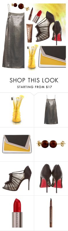 """""""Silver Lining 3"""" by asfuni ❤ liked on Polyvore featuring Jacki Design, Yves Saint Laurent, âme moi, Splendid Pearls, Christian Louboutin, Urban Decay, Clinique, Smashbox, Silver and metallic"""