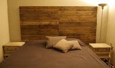 cabecera de cama con palets -