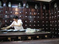 Apothecary Drawers from the Traditional Chinese Medicine hospital in Hangzhou. So beautiful.