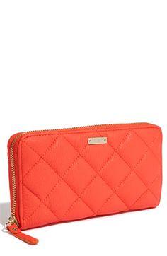 kate spade new york 'gold coast - lacey' zip around wallet