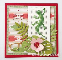 Cross Stitch Cards, Cross Stitch Borders, Cross Stitching, Cross Stitch Patterns, Paper Embroidery, Marianne Design, Tropical Leaves, Diy Cards, Hibiscus