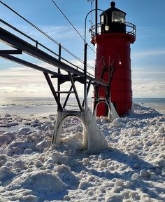 A beautifully captured picture of our lighthouse in the winter! Thank you @zintaaistars!