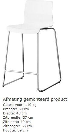 Barstoel (stapelbaar) van Ikea voor in de nieuwe keuken