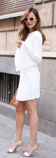 All white outfit style is incredibly fresh, and refined, and elegant, and luxurious. Exactly what I love about a look. #White #Outfit #Style