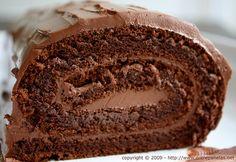 Rocambole de chocolate (sem farinha) especial para o Dia dos pais