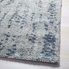Distressed Foliage Rug - Moonstone from West Elm Frame Wall Decor, Frames On Wall, West Elm Rug, Jewelry Display Box, Circle Rug, Solid Rugs, Wall Decor Pictures, Bedding Shop, Modern Rugs
