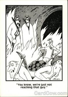 The Far Side, You Know, We're Just Not Reaching That Guy.