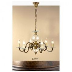 Lustrarte 362/6 Six Light One Tier Chandelier from the Etrusca Collection