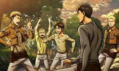Eren| Connie| Jean| Bertholdt| Reiner| Attack on Titan
