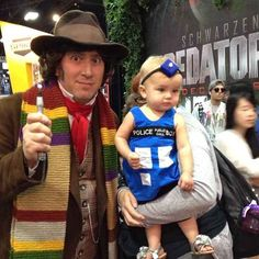 The TARDIS that will make your eyes shed beautiful tears of joy.   The 25 Most Adorable Cosplayers At Comic-Con
