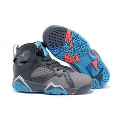 separation shoes 1a715 b173d Buy 2016 Nike Air Jordan 7 Retro GS Barcelona Days Dark Grey/Turquoise Blue  Wolf Grey Total Orange Kids Shoes New Style from Reliable 2016 Nike Air  Jordan 7 ...