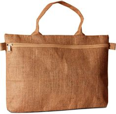 Eco-Friendly Jute Document Bag with Zipper Closure