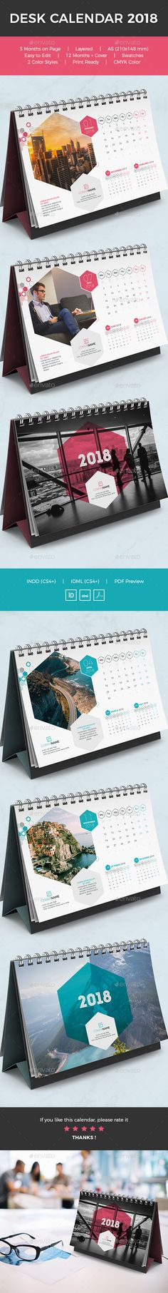 Unique & Creative Calendars Templates, 12 Months Cover, Very easy to use and customize, just choose or adjust the color, add you Teal Desk, Green Desk, Green Office, Creative Calendar, Calendar Design, U Shaped Office Desk, Tool Design, Design Design, Creative Design