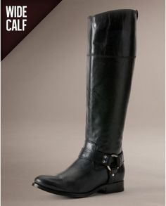 FRYE Melissa Harness Zip Wide Black Extended #WinterIsComing #OverKneeBoots