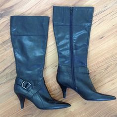Alexander Wang thigh high leather boots | Leather boots, Thigh ...