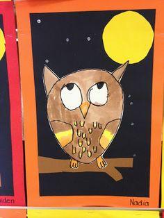 Mrs. Ehle's Kindergarten Connections: Owl Art!