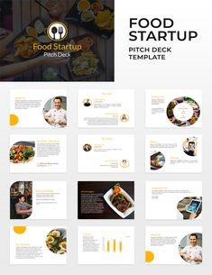 Free Food Startup Pitch Deck Template Pitch Presentation, Business Powerpoint Presentation, Presentation Design, Presentation Templates, Create Powerpoint Template, Powerpoint Free, Microsoft Powerpoint, Keynote Template, Wallpaper Iphone 7 Plus