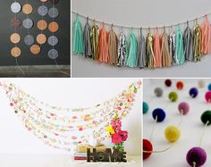Etsy Finds: Perfect Party Garlands- love the one that is several strands together!