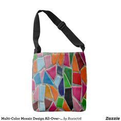 Multi-Color Mosaic Design All-Over-Print Tote Bag