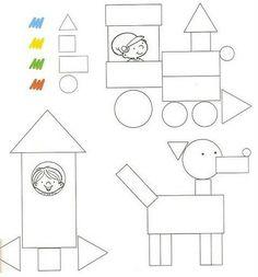 Kenar köşe geometrik şekiller Recreo y pensamiento lógico - - Álbumes web de Picasa Preschool Projects, Preschool Learning Activities, Preschool Curriculum, Preschool Worksheets, Kindergarten Math, Toddler Activities, Preschool Activities, Kids Learning, Teaching Shapes