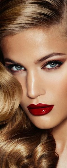 Sexy eyes look with deep shiny red lips. LOOKandLOVEwithLOLO: Charlotte Tilbury has Landed!
