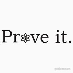 Prove it with atheism symbol