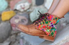 Teysha handmade Guate Boots! Custom fit to your feet and you design them