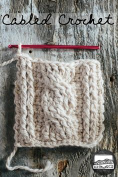 Cabled Crochet Basics slugsontherefrigerator.com...lots of other good crochet tutorial s on this site