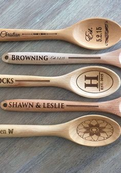 Celebrate the newlyweds or personalize your family's kitchen with these handcrafted wooden spoons from American Laser Crafts, found exclusively at LivingSocial!