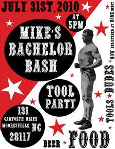 Retro Bachelor Party Invite by Andrea Sheley, via Behance