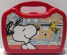 M 1968 Snoopy Dome Top Metal Lunch Box American Thermos