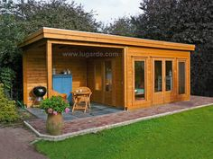"The fundamental rule of garden buildings is ""you need a firm, level foundation no matter what you're doing"". Without that foundation your building or shed Backyard Studio, Backyard Patio, Flat Roof Shed, Gazebo, Summer House Garden, Summer Houses Uk, Garden Cabins, Shed Design, Garden Buildings"