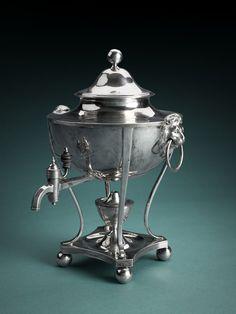 Online Bidding, Urn, Barware, Auction, Conditioner, Clock, Silver, Watch, Clocks