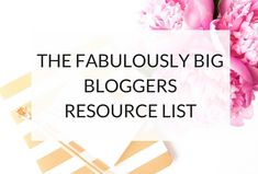 A brilliant resource guide for bloggers