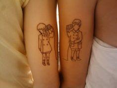 she & him... I want Doug and I to do something like this.. too cute!!