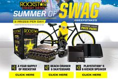 Babybear's Freebies, Sweeps and more!: Win a Year's Supply of Rockstar Energy Drinks- or ...