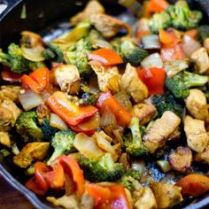 pot paleo chicken curry stir fry--Good list of ingredients to turn stir fry from teryaki (sp?) to curryone pot paleo chicken curry stir fry--Good list of ingredients to turn stir fry from teryaki (sp?) to curry Healthy Recipes, Healthy Dishes, Clean Eating Recipes, Real Food Recipes, Diet Recipes, Healthy Eating, Cooking Recipes, Easy Recipes, Paleo Food