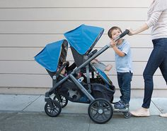 Uppababy Vista can carry up to 3 kids in a pretty compact stroller, making it one of the best strollers when you've got two kids or  more